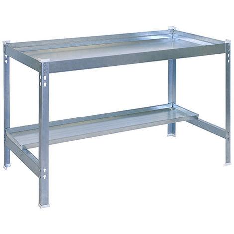 Table métallique pour jardin KIT SIMONGARDEN DESK - 840 x 1500 x 600 mm - Galvanisé - 777100224150702 - Simonrack