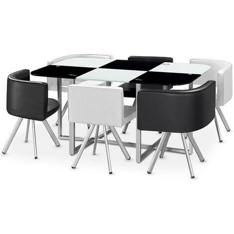 Table Mosaic XL Bicolore Noir et Blanc - Noir / Blanc
