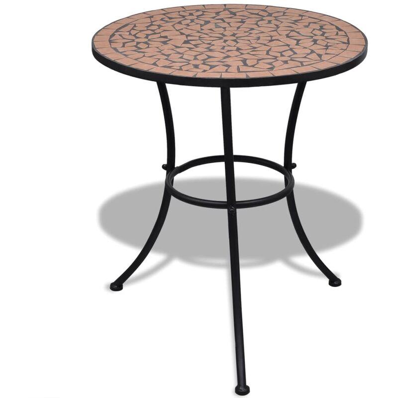 Vidaxl - Table de bistro Terre cuite 60 cm Mosaïque