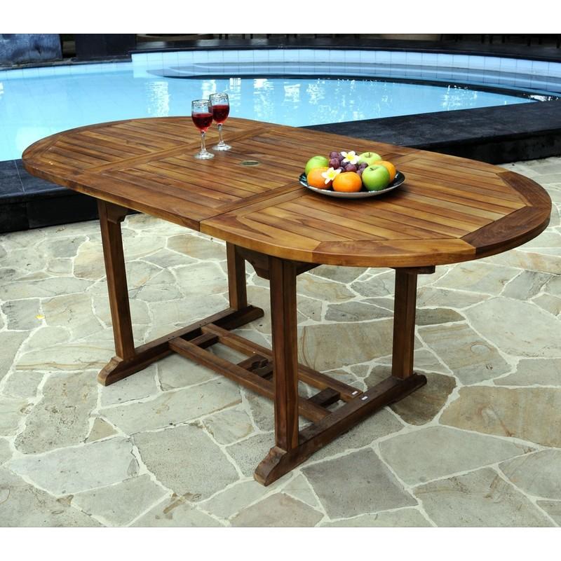 Ovale De Table 90 Avec X Jardin Papillon120 180 Rallonge Teck En Cm Huilé WH9EYeD2I