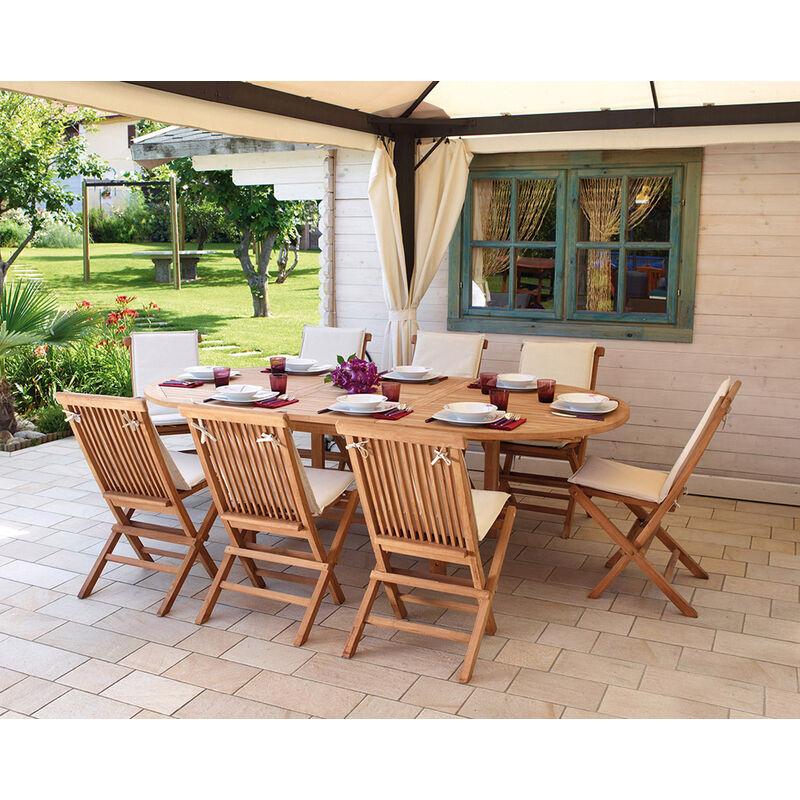 En Teck Cm Extensible Bois X 120 Table Ovale Dim180240 PkiuZOXT