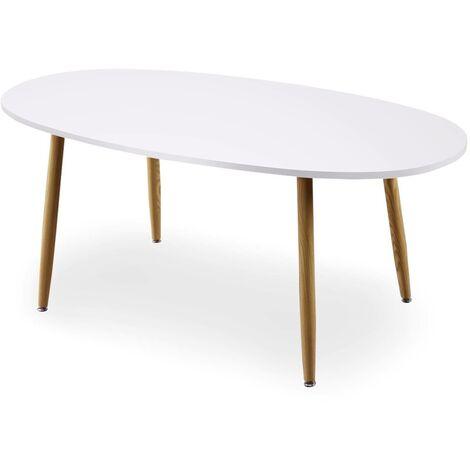 Table ovale scandinave Nolane Chêne clair - Bois