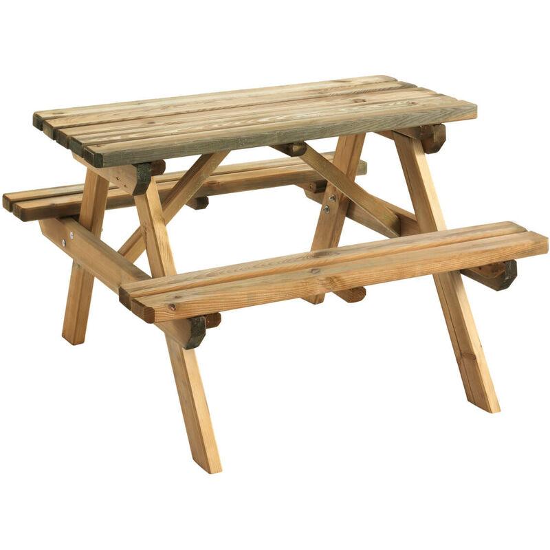 Table pique nique WAPITI | 90 x 90 cm - bois