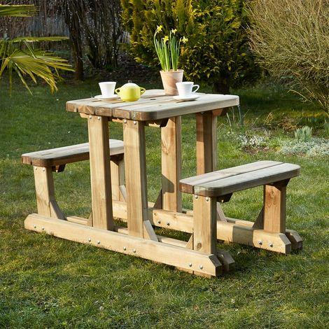 Table pique-nique en bois duo robuste