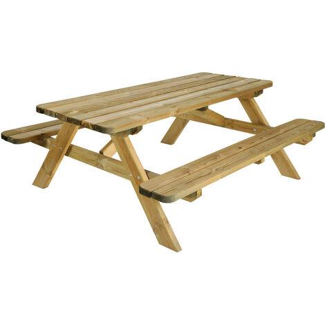 Table pique nique ROBUSTE 45 | 180 x 160 cm