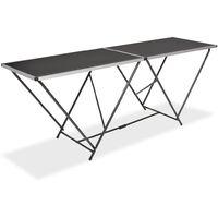 Table pliable de collage MDF et aluminium 200 x 60 x 78 cm