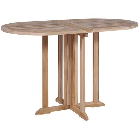 Table pliable de jardin papillon 120x70x75 cm Bois teck ...