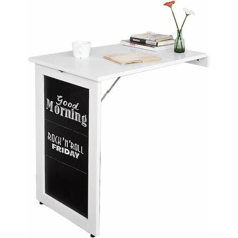Table Pliable Murale Bureau avec Mémo Board - Blanc FWT20-W SoBuy®