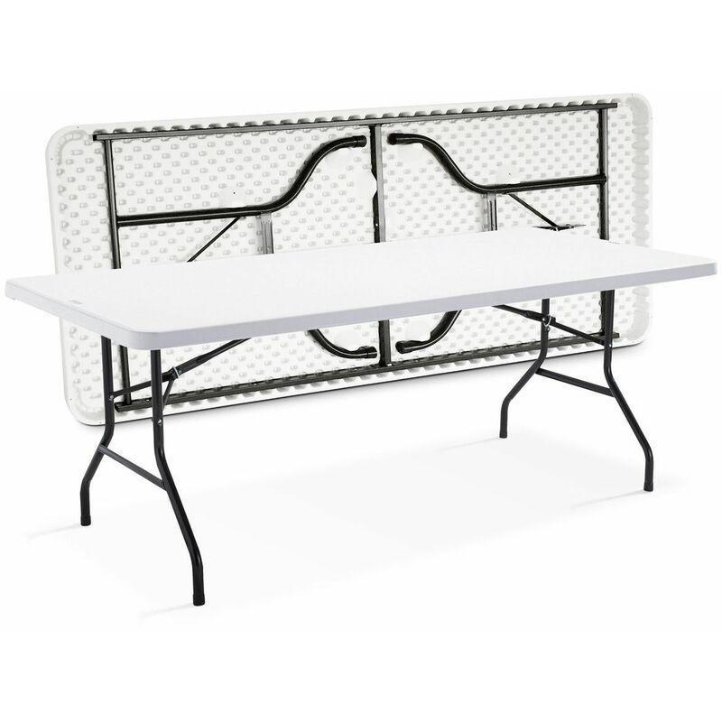 table pliante 200cm 10 places monobloc 102824. Black Bedroom Furniture Sets. Home Design Ideas