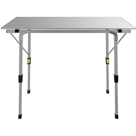 Table Pliante 90 X 53 X 70 Cm Pour Camping En Aluminium Tap90