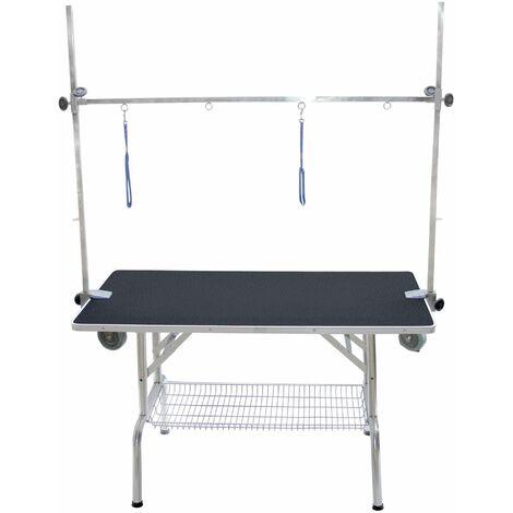 Table pliante à potence double (avec roulettes)