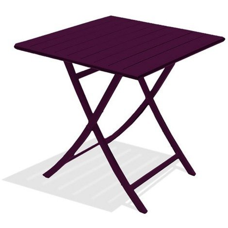 Table pliante alu marius aubergine