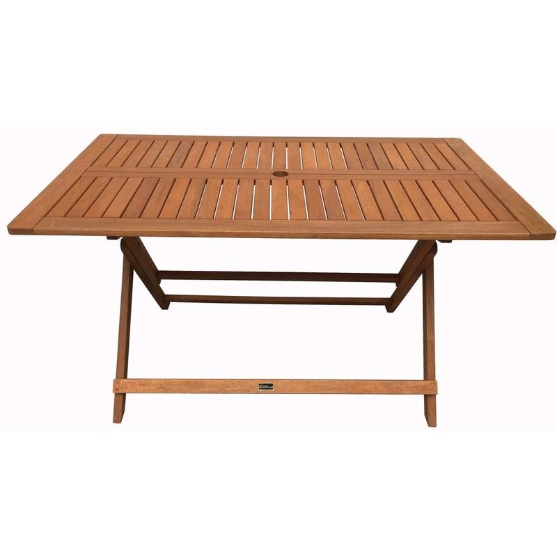 Table Pliante Bois Exotique Hong Kong Maple 135 X 80 Cm