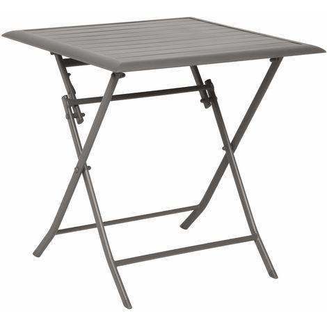 Table pliante carrée Azua - 2 Places - Marron tonka - Marron