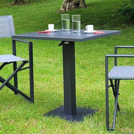 Table pliante carrée en alu 70 x 70 cm Otrante