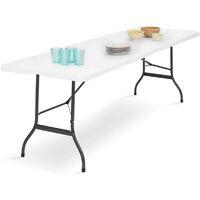 Table pliante d'appoint portable pour camping ou réception 180 cm