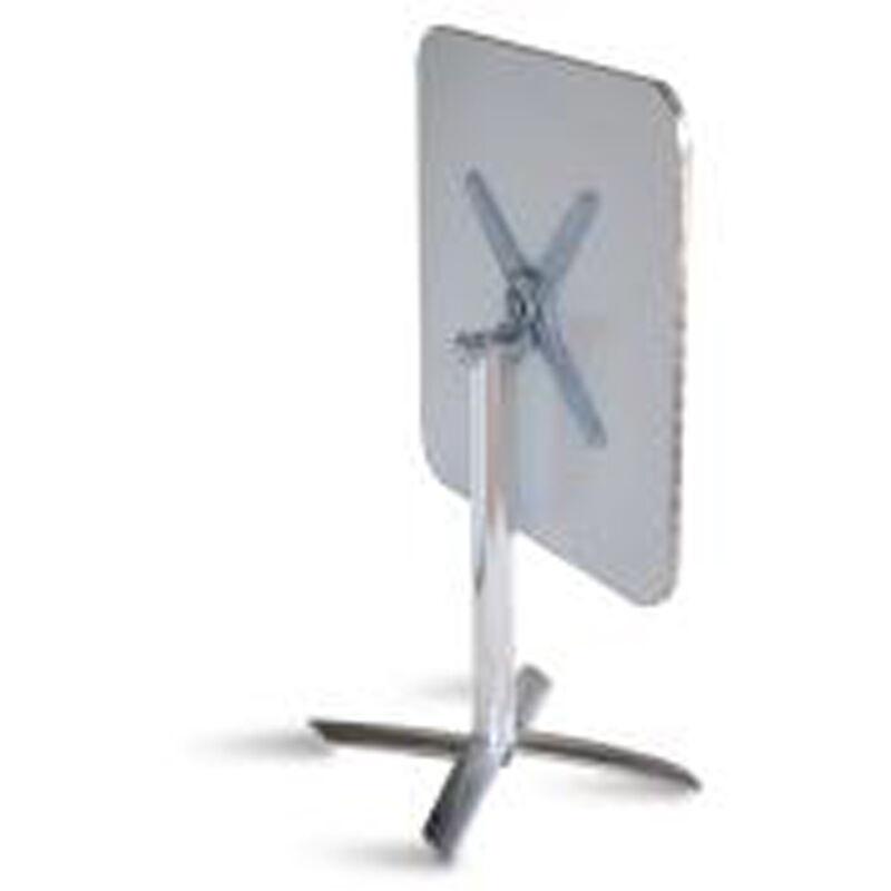 Pegane - Table pliante de jardin en aluminium et plateau en acier - Dim : H 70 x L 70 x P 70 cm