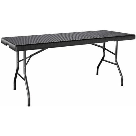 Pliable Table de Jardin Stable Plastique 180 x 75 x 74cm ...