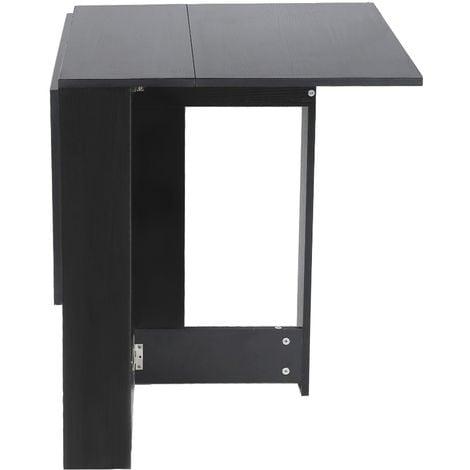 """main image of """"Table Pliante Noir Style Contemporain 4-6 Personnes pour Cuisine Salle à Manger Salon"""""""