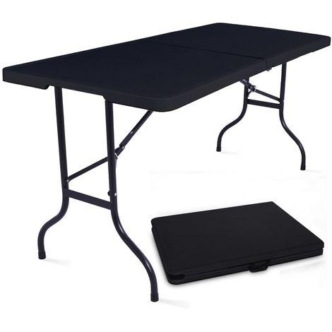 Table Pliante Noire 180cm 8 Places Pehd
