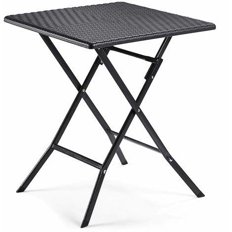 Table Pliante, petiteTable de Jardin avec Surface en Plastique à ...