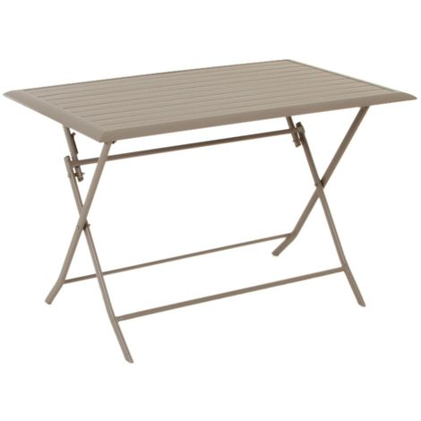 Table pliante rectangulaire Azua - 4 Places - Taupe - Taupe