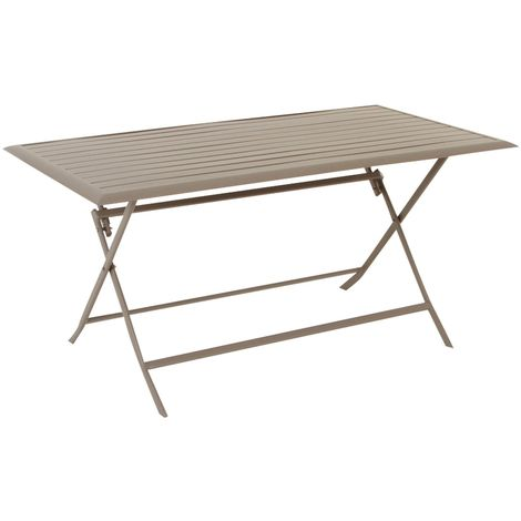 Table pliante rectangulaire Azua - 6 Places - Taupe - Taupe