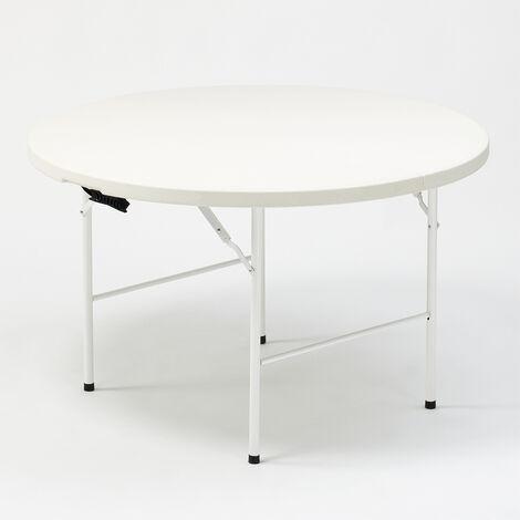Table pliante ronde 122x74 pour jardin et camping Arthur 120