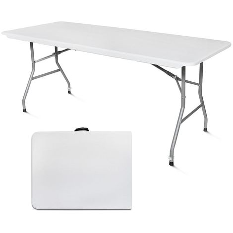 Table Pliante Transportable, Table en Plastique Robuste, 180 x 76 cm ...
