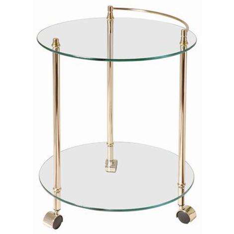 Table pour desserte en tube d'acier Coloris Doré, Dim : Hauteur 60 cm