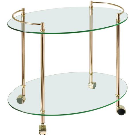 Table pour desserte en tube d'acier Coloris Doré, Dim : L68 x P45 x H60 cm