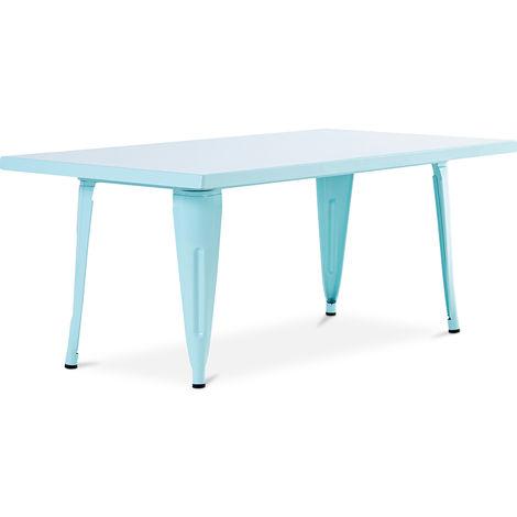 Table pour enfant de style Tolix - 120 cm - Métal Violet