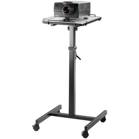 Table pour vidéoprojecteurs - hauteur réglable 800 – 1250 mm - dimensions base l x p 400 x 500 mm - Coloris piétement: Gris