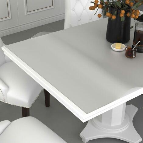 Table Protector Matt 100x90 cm 2 mm PVC - Transparent
