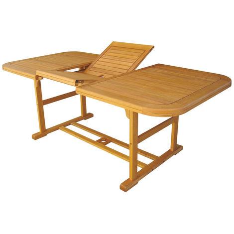 Ac805081dbs 180240x100cm Table Extensible Bois D'acacia Rectangulaire kuZOPiX