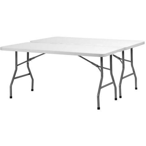 Table rectangulaire Polyéthylène XL150 pliante de dimension 152x76