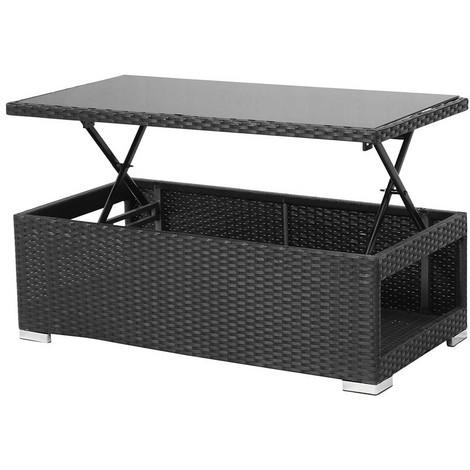 meilleur service b9eb9 87cd6 Table relevable résine tressée Ibiza -