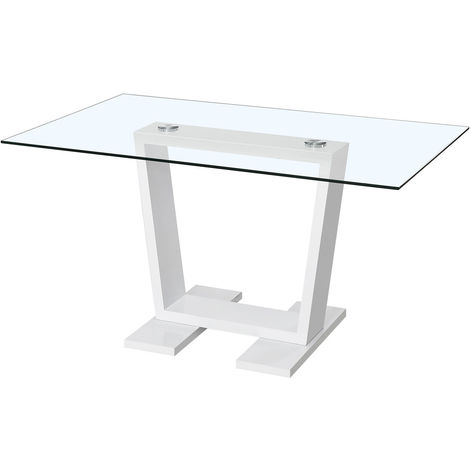 "Table repas ""Bina"" - 150 x 90 x 75 cm - Blanc"