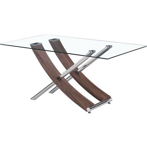 """Table repas """"Diva"""" - 160 x 90 x 76 cm - Chêne laqué"""