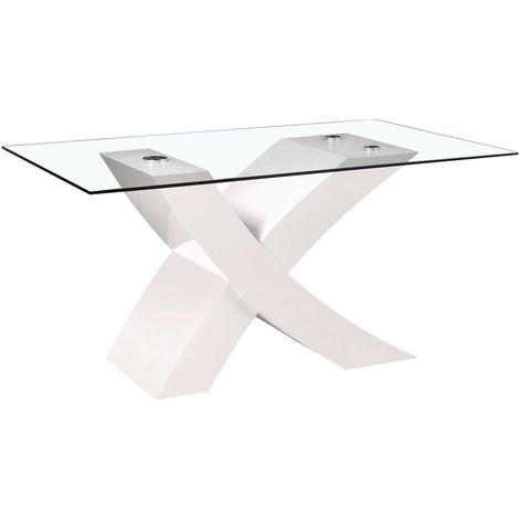 "Table repas ""Mona"" - 150 x 90 x 74 cm - Blanc"