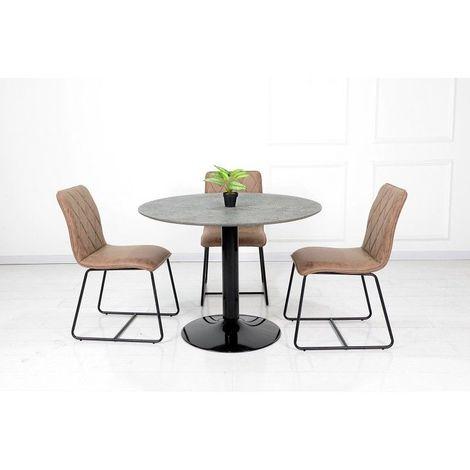 Table ronde avec pied central JOSUA. Magnifique design pour ...