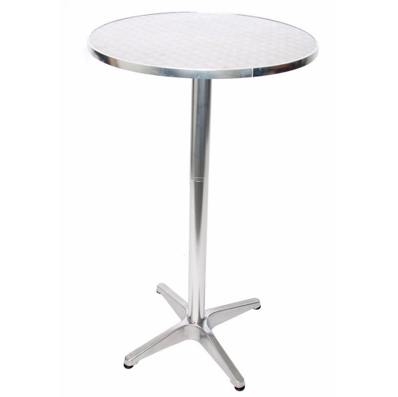Table Ronde De Bistrot Grant Metal Argent D 60cm Ht11352