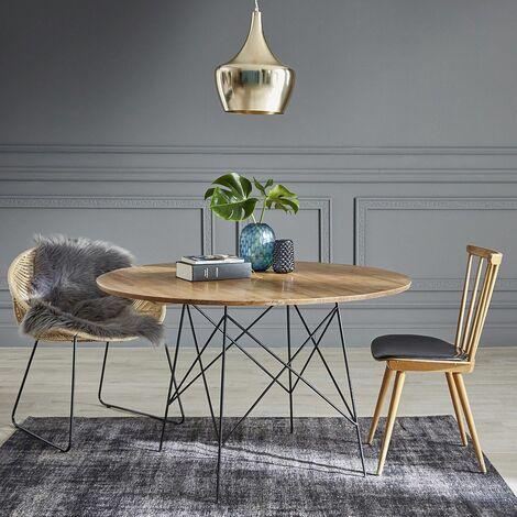 Table ronde en bois de mindy 4 couverts