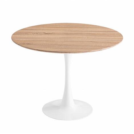 TABLE RONDE IBIZA WHITE Ø120 CM