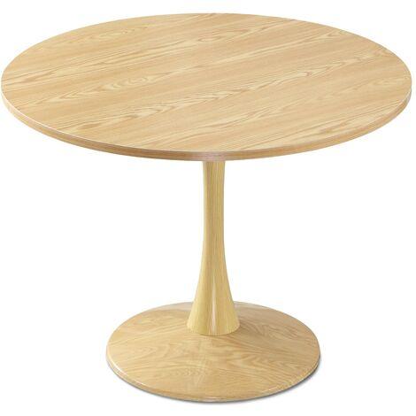 Table ronde Necy Chêne - Chêne clair