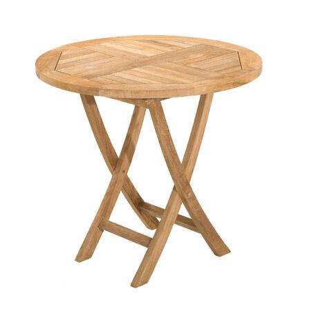 Table ronde pliante en teck 80 cm - 1304732