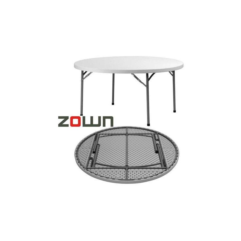 Table ronde polyéthylène pliante PLANET120 de diamètre 120cm