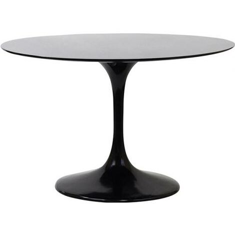 Table ronde Tulip fibre de verre Eero Saarinen Noir