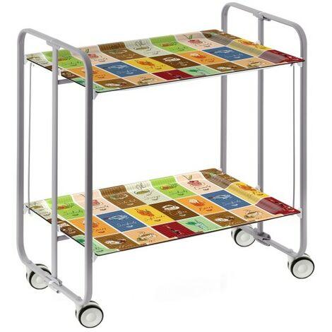 Table roulante pliante BAUHAUS châssis gris aluminium. - 20