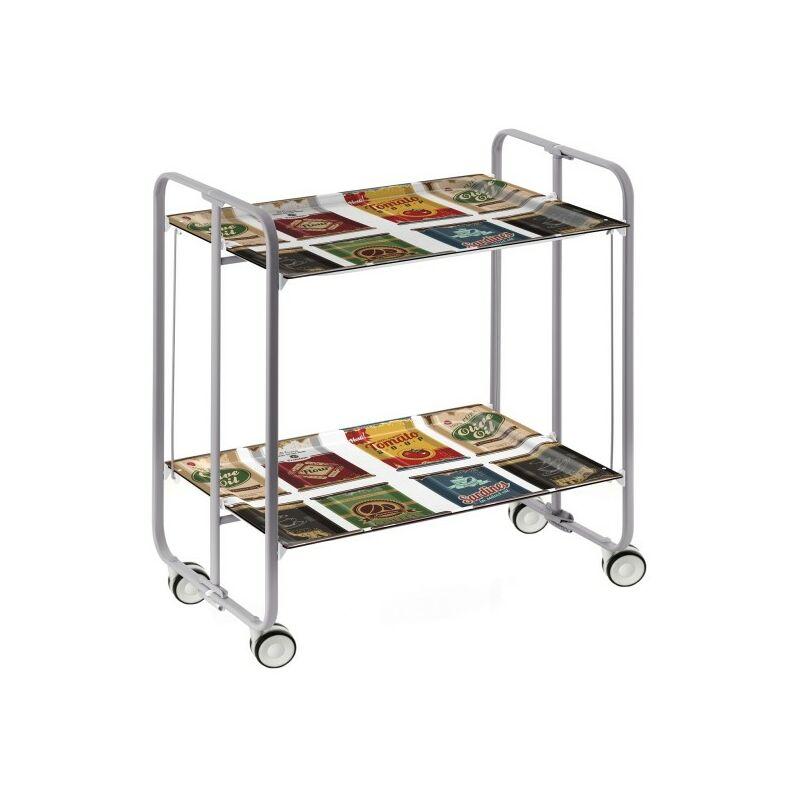 Table roulante pliante BAUHAUS châssis gris aluminium. - 22 - Don Hierro